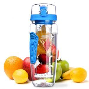 botella agua con filtro frutas