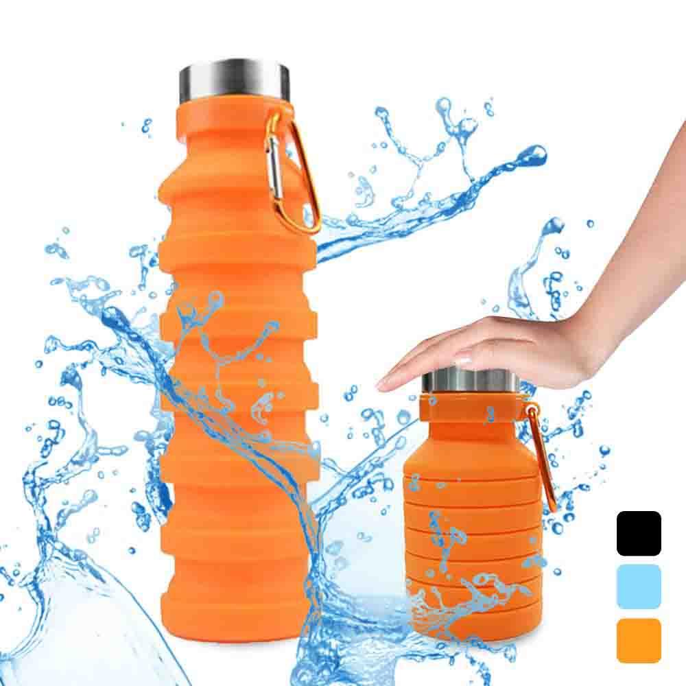 Botella Plegable de Agua Silicona Suave de Grado Alimenticio