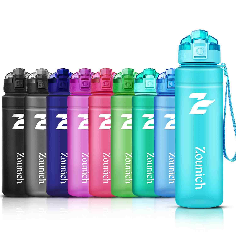 ZOUNICH Botella Agua Deporte, Botella Agua Niños sin BPA Reutilizable Plástico Tritan - 500 ml / 700 ml / 1 l / 1.2 l