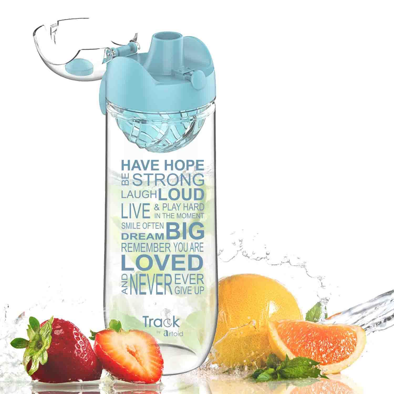 Artoid Mode 1000ml Infusión Deportes Botella, a Prueba de Fugas con el Filtro de Fruta de Segunda generación y Marca de Tiempo alentador