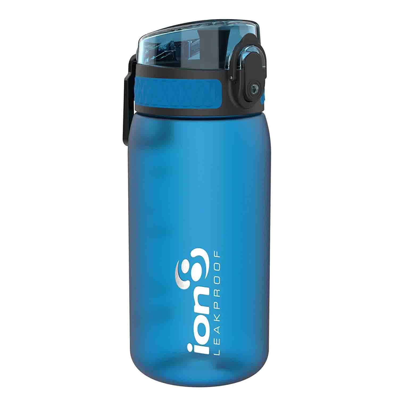 ion8 Leak Proof BPA Free, Botella de agua, sin BPS, a pueba de fugas, Azul (Frosted Blue), 350 ml