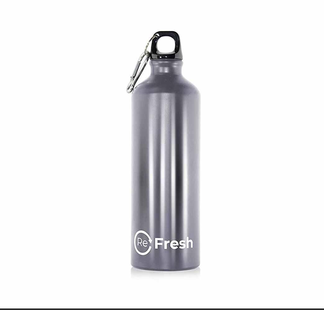Botella de Agua Refresh – Ligera (Aluminio) Reutilizable Botella de Agua de Metal – Libre de BPA – 750 ML