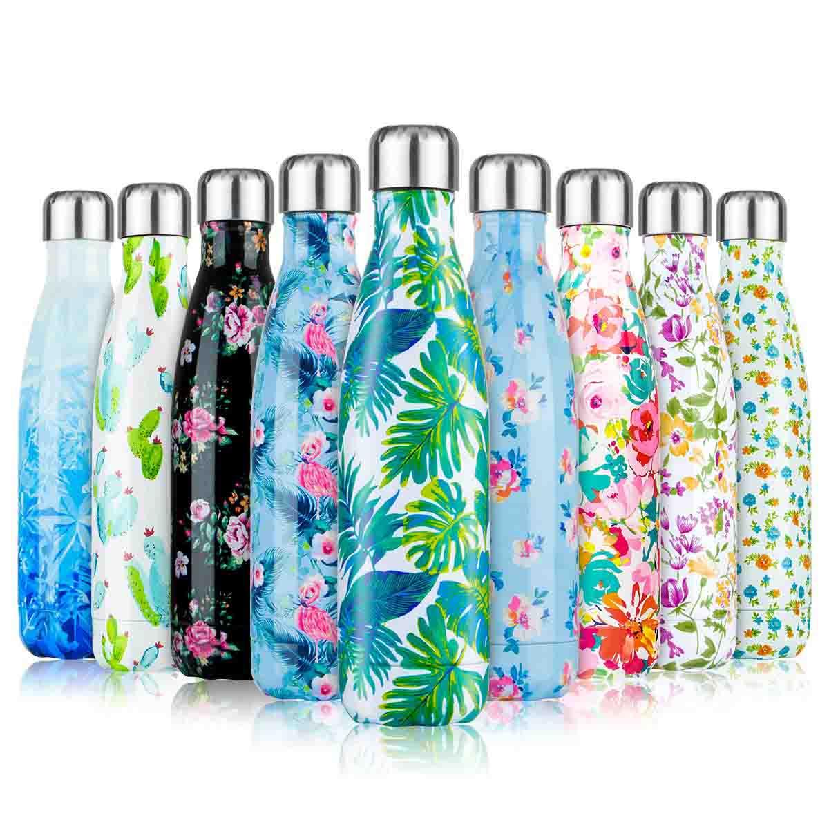500ml Botella de Agua de Acero Inoxidable Botella Termica, Botella Sin Bpa & Eco Friendly, Mantiene Bebidas frías por 24h y Calientes por 12h