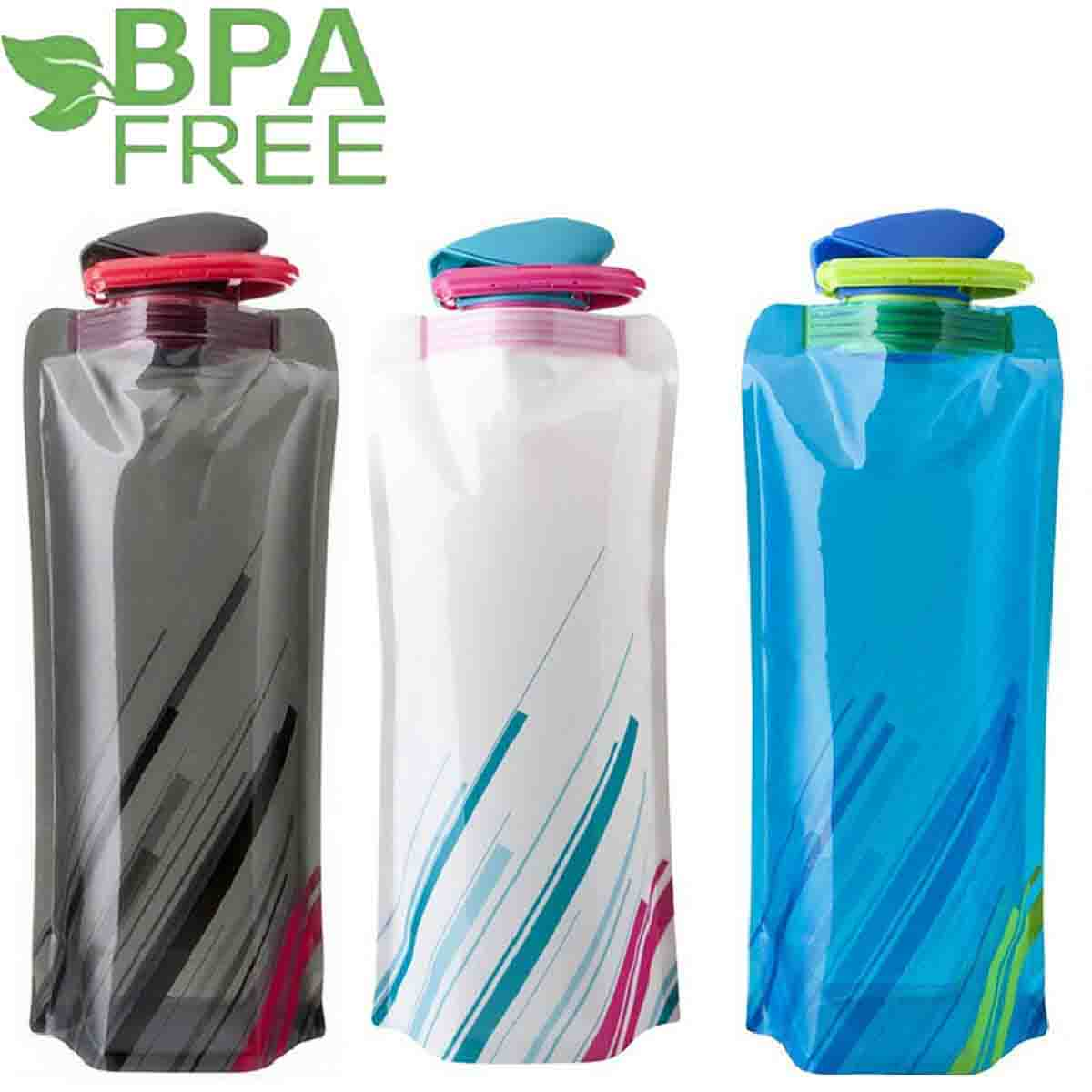 pack de botellas de agua plegable