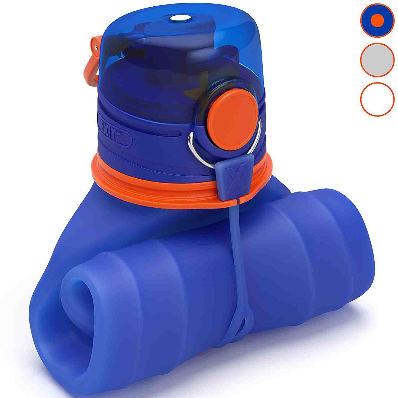 Botella de silicona plegable deportiva