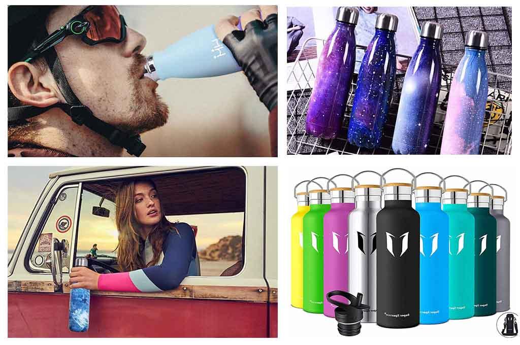 botellas de acero inoxidable reutilizables